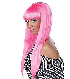 Bubble Gum Pink Adult Wig