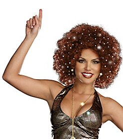 Disco Dollie Light Up Brown Adult Mini Afro