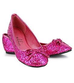 Fuchsia Mila Glitter Adult Ballet Flats
