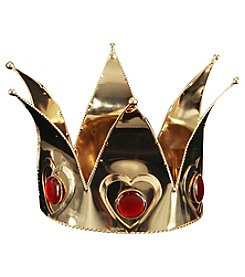 Mini Queen of Hearts Gold Adult Crown