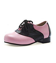 Black/Pink Adult Saddle Shoes