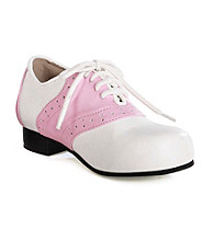 White/Pink Adult Saddle Shoes