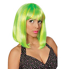 Tropical Flava Green Adult Wig