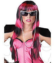 Untamed Black/Pink Adult Wig