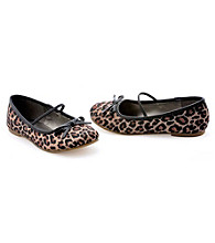 Leopard Brown Ballet Flat Child Shoes