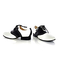 Saddle Black and White Child Shoes