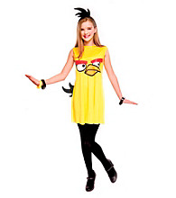 Angry Birds Yellow Bird Dress Tween Costume
