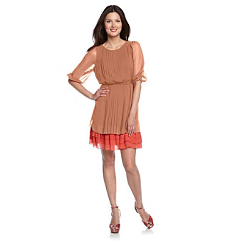 Jessica Simpson Pleated Tiered Dress