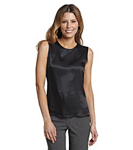 Kasper® Black Sleeveless Blouse