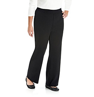 Laura Ashley® Plus Size Pull-On Pants