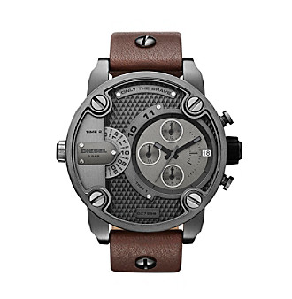 Diesel Men's Multifunction Watch with Leather Band