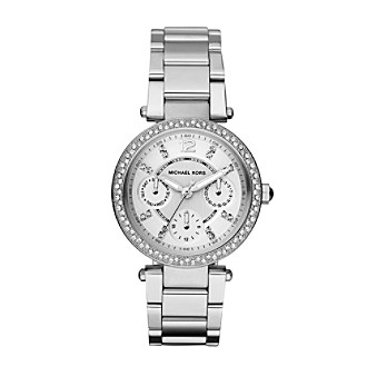 Michael Kors® Women's Silvertone Mini Parker Watch