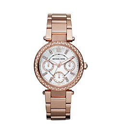 Michael Kors® Shiny Rose Goldtone Mini Parker Womens Watch