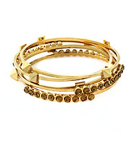 Vince Camuto™ Stone And Stud Goldtone Bangle Set