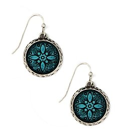 Nine West Vintage America Collection® Small Blue Drop Earrings