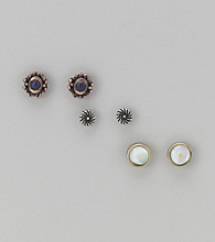 Nine West Vintage America Collection® Multi Trio Earring Tri-Tone Set