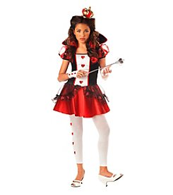 Wonderlands Queen of Hearts Tween Costume
