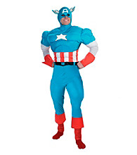 Captain America Deluxe Muscle Adult Costume