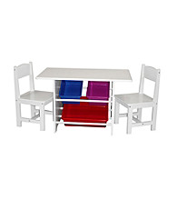 RiverRidge Kids Table with Storage & Chairs