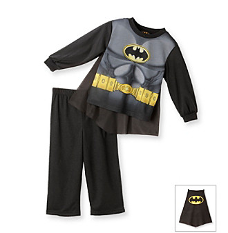 Batman® Boys' 2T-8 Black and Grey 2-pc. Batman Pajamas