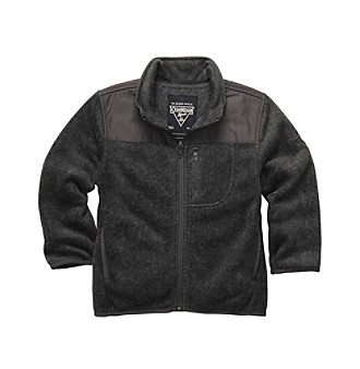 OshKosh B'Gosh® Boys 2T-7 Charcoal Grey Zip-up Fleece Jacket