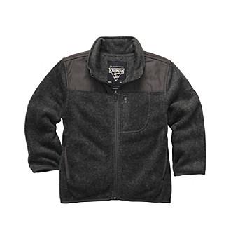 OshKosh B'Gosh® Boys 2T-7 Charcoal Grey Zip-up Fleece Jacket