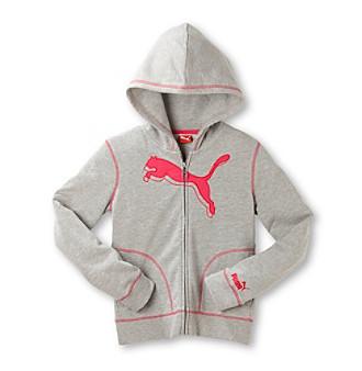 PUMA® Girls' 7-16 Long Sleeve Zip-up Active Hoodie