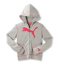 PUMA® Girls' 7-16 Long Sleeve Zip-up Active Hoodie