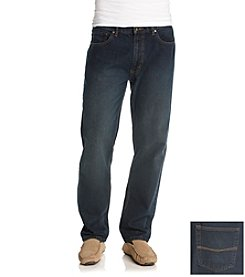 Ruff Hewn Men's Dark Stone Wash 5-Pocket Straight-Leg Jeans
