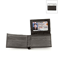 Kenneth Cole REACTION® Men's Black Leather Richmond Passcase Wallet
