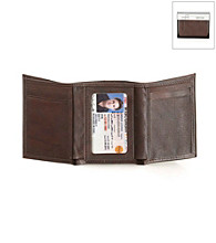 Kenneth Cole REACTION® Men's Brown Leather Fillmore Trifold Wallet