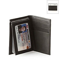 Kenneth Cole REACTION® Men's Black Leather Wallstreet Flip-Up Wallet
