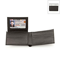 Kenneth Cole REACTION® Men's Black Leather Wallstreet Passcase Wallet