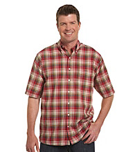 Oak Hill® Men's Big & Tall Madras Sport Shirt