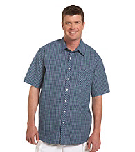 True Nation™ Men's Big & Tall Navy/Multicolored Plaid Shirt