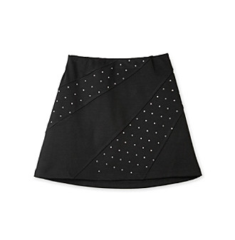 Amy Byer Girls' 7-16 Black Skirt with Studs