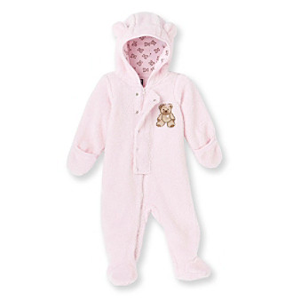 Cuddle Bear® Baby Girls' Pink Teddy Bear Fleece Pram