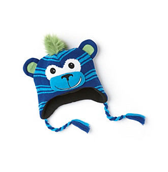 Mambo® Boys' Blue Striped Monkey Hat