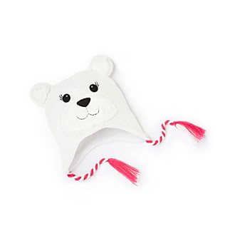 Mambo® Girls' 4-16 White Polar Bear Hat