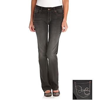 Nine West Jeans Granite Boulevard Embellished Straight Leg Jean