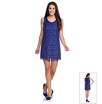 Kensie® Scalloped Lace Dress