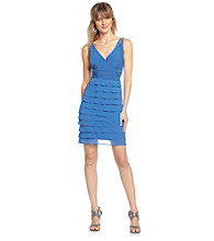 S.L. Fashions Petites' Shutter-Pleat Surplice Dress