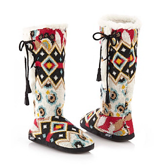 MUK LUKS® Forever Boho Lace Up Slipper Boots