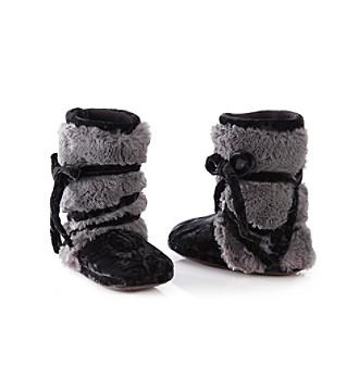 MUK LUKS® Tonal Fur Wrap Slipper Boots