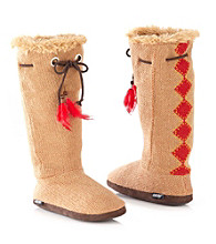 MUK LUKS® Diamond Basketweave Slipper Boots