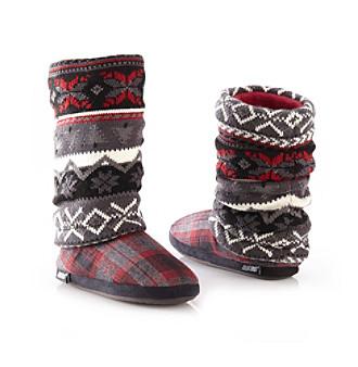 MUK LUKS® Fairisle Slouch Slipper Boots