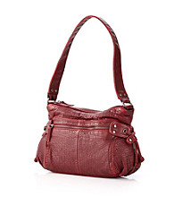 GAL Washed Mini Croco Hobo