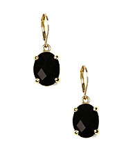 Anne Klein® Goldtone Rincon Jet Drop Earrings