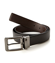 Perry Ellis Portfolio® Men's Black/Brown Reversible Iron Man Belt