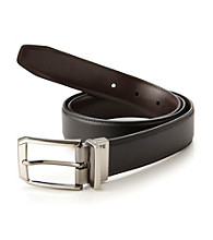 Perry Ellis Portfolio® Men's Black/Brown Reversible Belt with Swivel Buckle